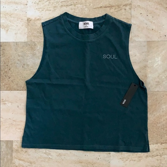 soulcycle Tops - Soul Cycle Boxy Crop Tank Top